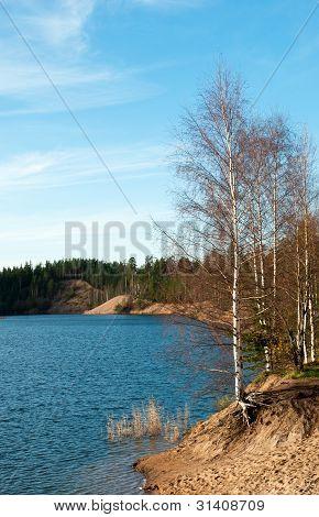 Autumn Lake Landscape