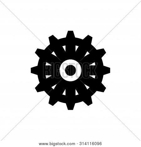 Ship Steering Wheel, Boat Rudder. Flat Vector Icon Illustration. Simple Black Symbol On White Backgr