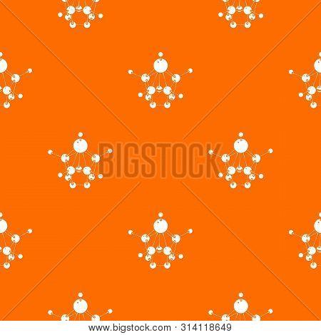 Aspirin pattern vector orange for any web design best poster