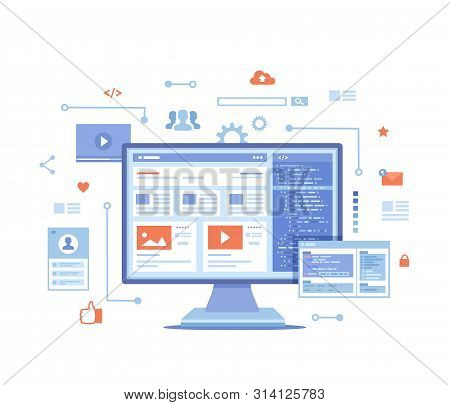 Web Development, Optimization, User Experience, User Interface In E-commerce. Website Layout Element