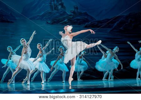 Odessa, Ukraine -july22, 2019: Ballet. Classical Ballet On Stage Of Odessa Opera Theater. Ballet Dan