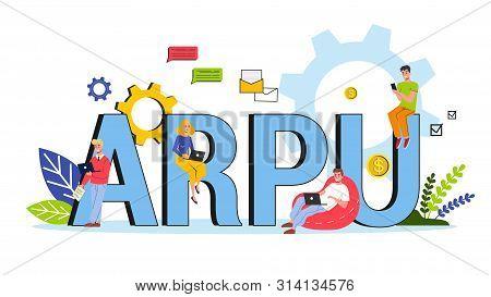 Arpu Abbreviation. Average Revenue Per User Concept