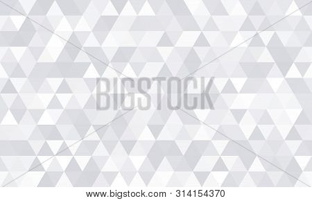 Background Pattern, White Geometric Abstract Polygon Shape. Vector Modern Gray Minimal Mosaic Tile,