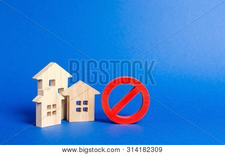 No Sign And Houses. Inaccessible And Expensive Housing. Seizure And Freezing Of Assets By A Bank, Co