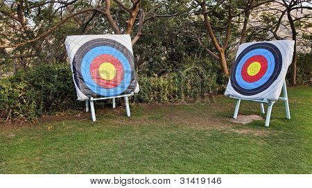 Diagonal Adjascent Archery Bulls Eye Targets