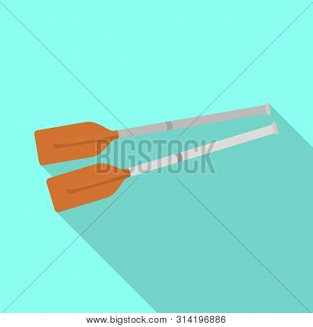 Isolated Object Of Oars And Paddle Sign. Collection Of Oars And Sport Stock Symbol For Web.