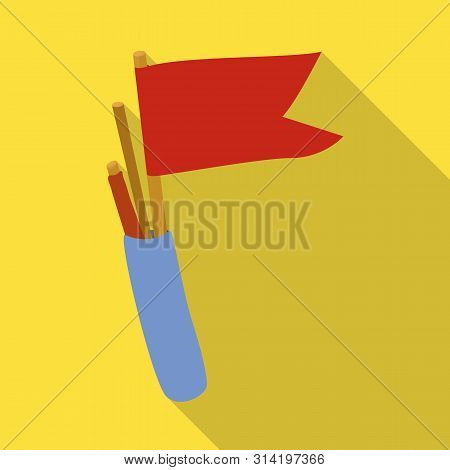 Vector Design Of Flag And Pennant Sign. Set Of Flag And Naval Stock Vector Illustration.