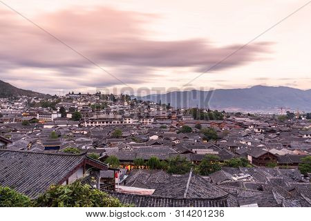 Rooftops Of Lijiang Old Town In China