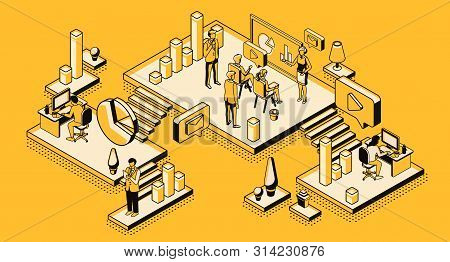 Marketing Strategy, Financial Analytic Company, Agency Working Process In Office, Business People Pl