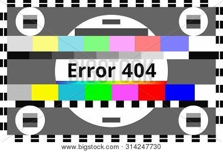 Error 404 Background In Abstract Tv Test Style