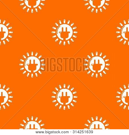 Unplugged Electrical Plug Pattern Vector Orange For Any Web Design Best