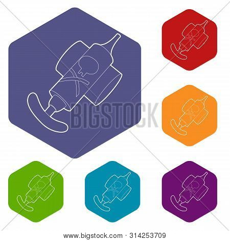 Hand Insecticide Spray Icon. Outline Illustration Of Hand Insecticide Spray Vector Icon For Web