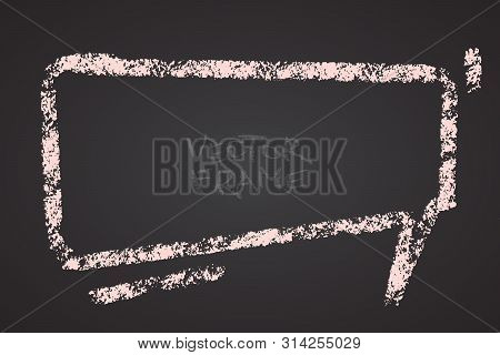 Frame Drawn With A Crayon. Wax Crayon Empty Shape. Vector Image Of Hand Drawn Stroke Frame. Light Pi