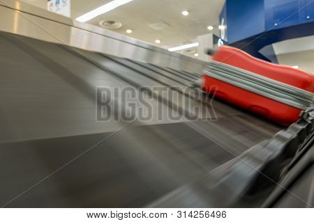 Baggage Claim Conveyor Belt At The Airport