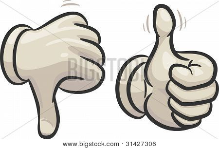 Thumbs Down And Up