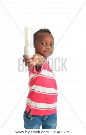 African American child with black bulb isolated metisse hair