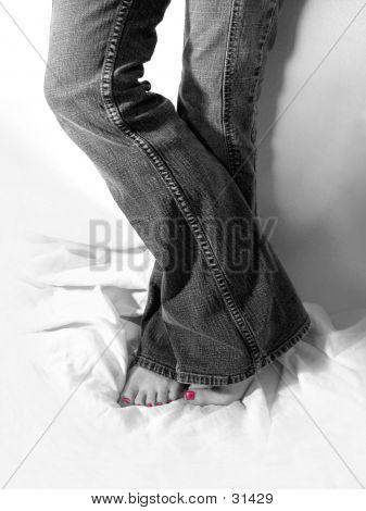 Teen In Jeans, Standing