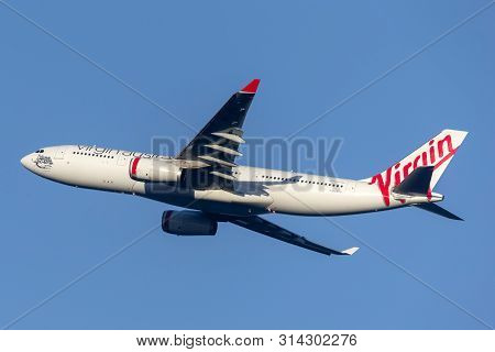 Sydney, Australia - October 7, 2013: Virgin Australia Airlines Airbus A330 Large Commercial Airliner