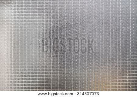 Reinforced Glass Window For Background Or Texture
