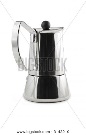 Mocca Maker Isolated On White Background, Stock