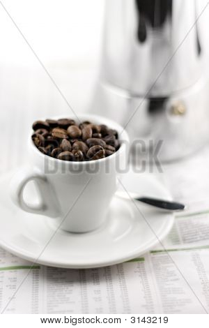 Mocca Maker And Coffee Cup
