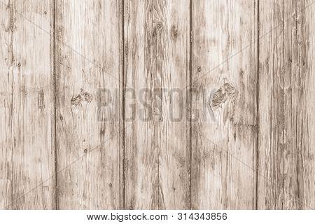Light Wooden Desk. Oak Fence Texture. Old Wood Brown Background. Hardwood Timber Pattern. Dirty Rust