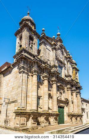View At The Church Of San Bartolome In Pontevedra, Spain