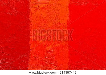 Abstract Painting Background. Background Was Painted With Diffenrent Hue Of Red Vermillion Oil Color
