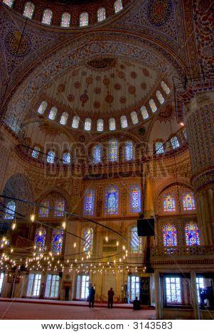 Blue Mosque Ceiling