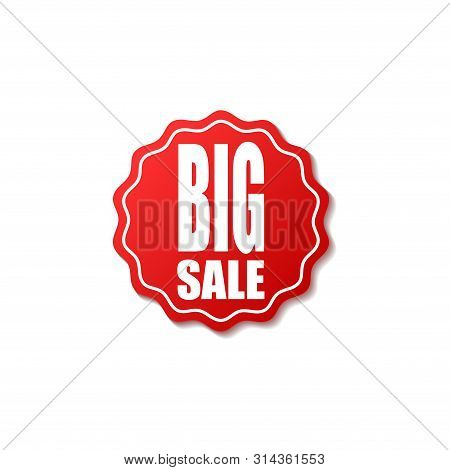 Sale Price Tag Vector Badge Template, Sale Label Symbol, Clearance Sale Sticker Emblem,tag Sale Red