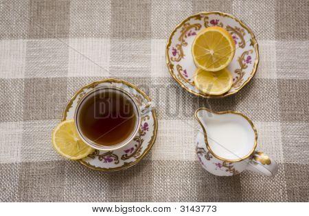 Tea With Lemon And Milk