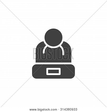 Winter Hat Vector Icon. Filled Flat Sign For Mobile Concept And Web Design. Wool Hat With Pom Pom Gl