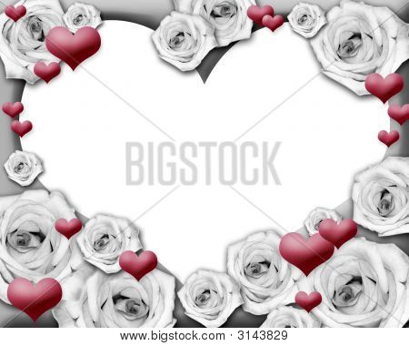 Hearts And Roses Photo Frame