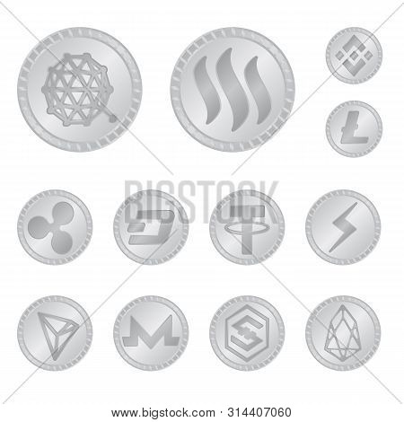 Vector Design Of Cryptography And Finance Sign. Set Of Cryptography And E-business Stock Vector Illu