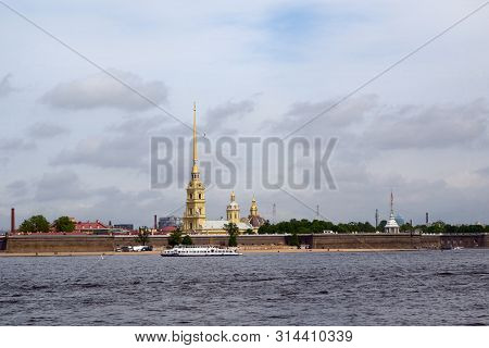 Saint Petersburg, Russia - May 25, 20197: View Of Of The Neva River And Peter And Paul Fortress, The