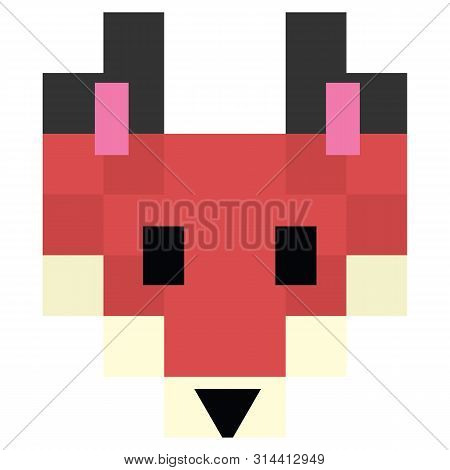 Cute 8 Bit Forest Fox Vector Photo Free Trial Bigstock