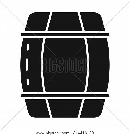 Vector Illustration Of Cask And Wine Logo. Set Of Cask And Wooden Stock Symbol For Web.