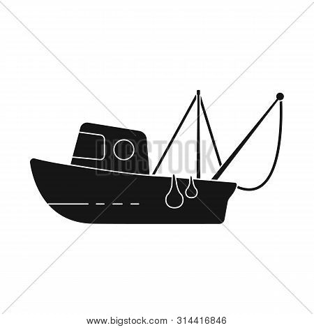 Isolated Object Of Fishery And Trawler Symbol. Set Of Fishery And Naval Stock Symbol For Web.