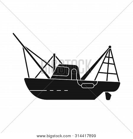 Vector Design Of Steamboat And Ship Logo. Collection Of Steamboat And Tugboat Stock Vector Illustrat
