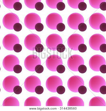 Vector Seamless Pattern ,background With Pink Circles