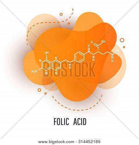 Trendy Fluid Liquid Gradient Design Elements With Folic Acid. Abstract Liquid Background.
