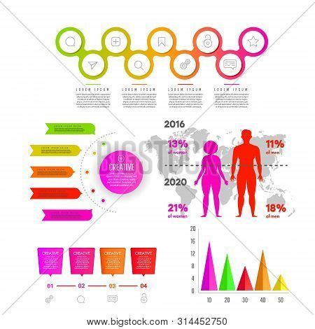 Body Mass Index, Obesity And Overweight. Business Statistics Graph, Demographics People Modern Infog