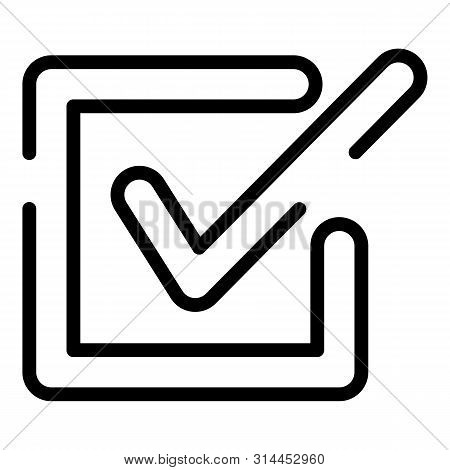 Checkbox Closeup Icon. Outline Checkbox Closeup Vector Icon For Web Design Isolated On White Backgro