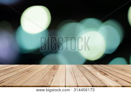 Old Wood Shelf Table With Blur Bokeh Backgrounds,white Room, Interior,for Display Products.best Back