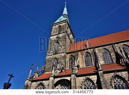 The Church Of Saint Andreas In Hildesheim, Germany