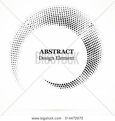 Halftone Dotted Background Circularly Distributed. Halftone Effect Vector Pattern.circle Dots Isolat