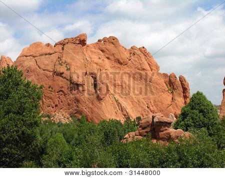 Steep rock cliff