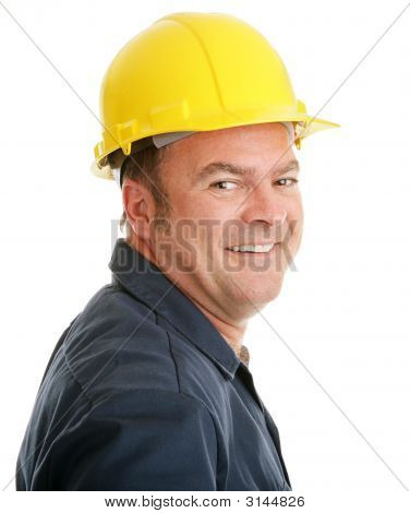 Obrero de la construcción típica