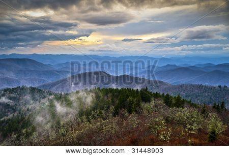 Blue Ridge Parkway Southern Appalachians Smoky Mountains Scenic Landscape Nc