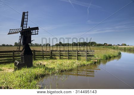 Small Windmill Weidemolen Grootschermer Near The Village Grootschermer Which Is Part Of The Dutch Hi